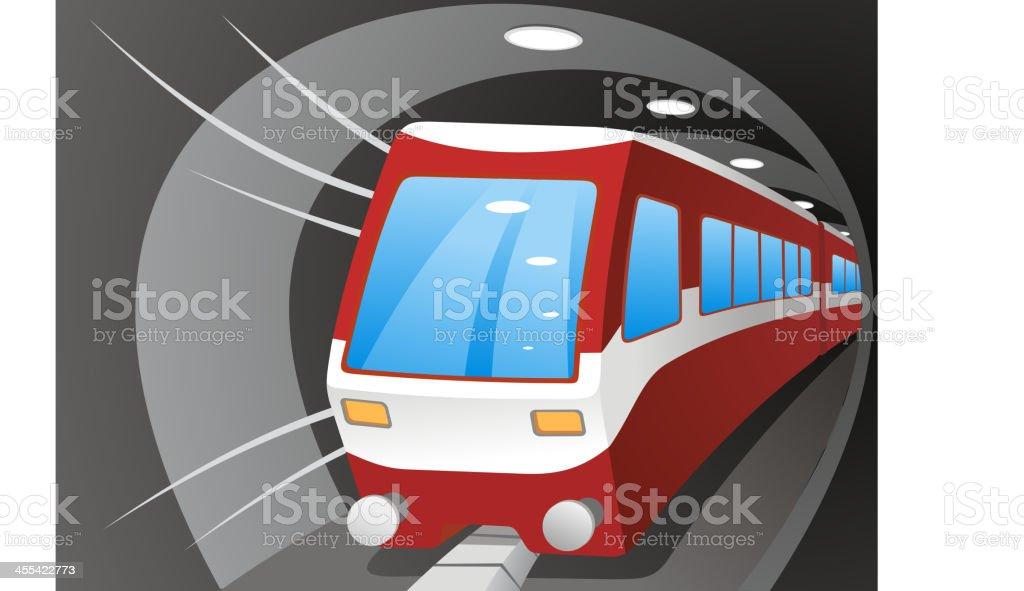 Subway tunnel vector art illustration