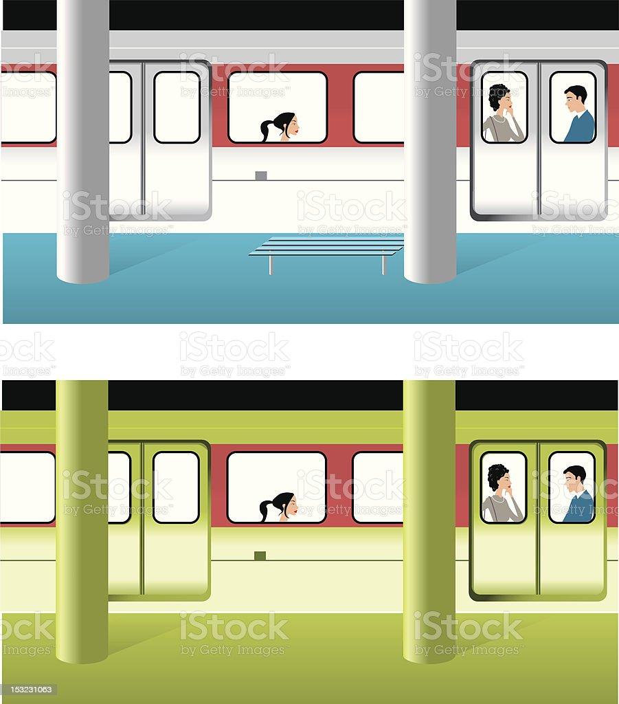 Subway royalty-free stock vector art