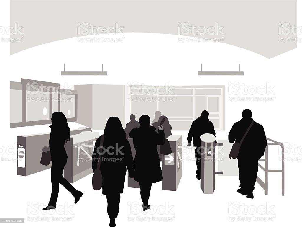 SubwayExit vector art illustration
