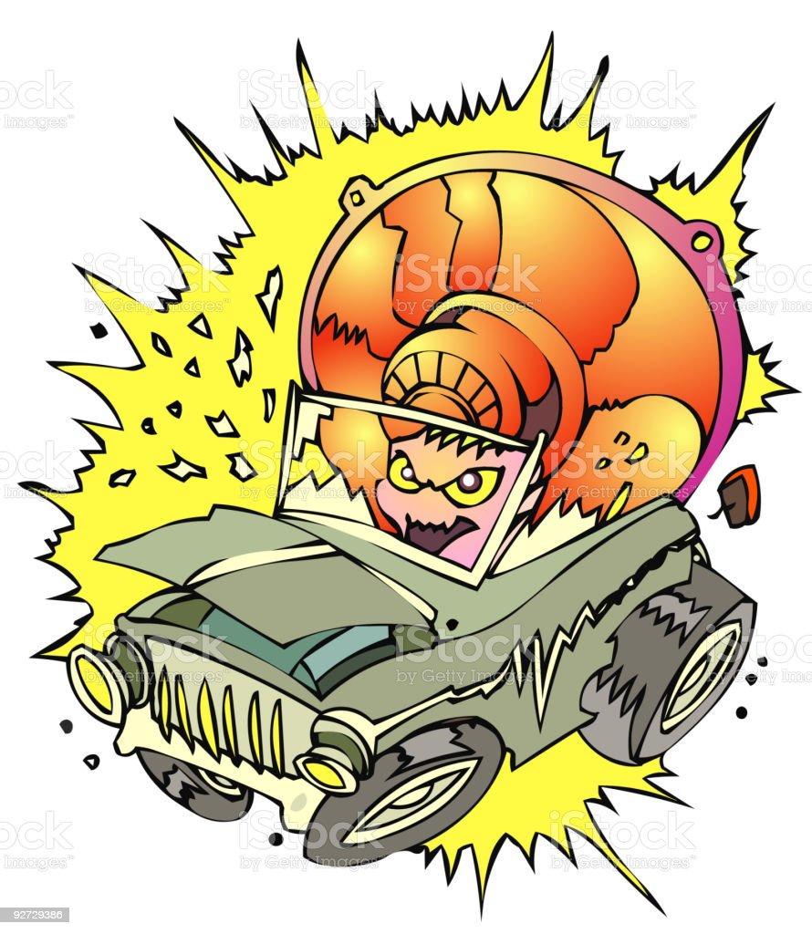 Subwoofer Damage royalty-free stock vector art