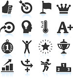 Success & Achievement Black and White royalty free vector arts