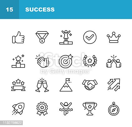 20 Success Outline Icons.