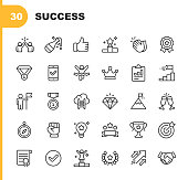 30 Success and Awards Outline Icons.
