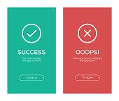 istock Success and Error Message Screen Design 895017770