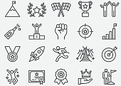 Success and Target Line Icons