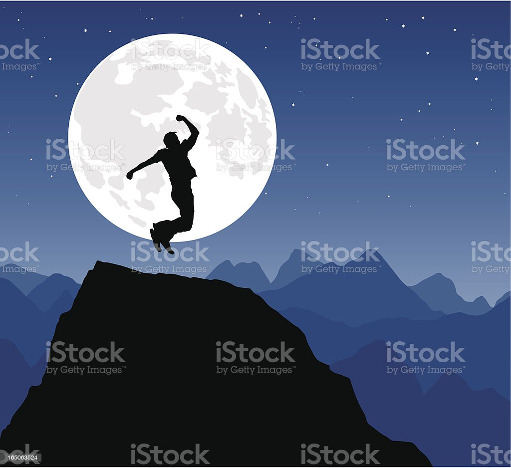 Success at night royalty-free stock vector art