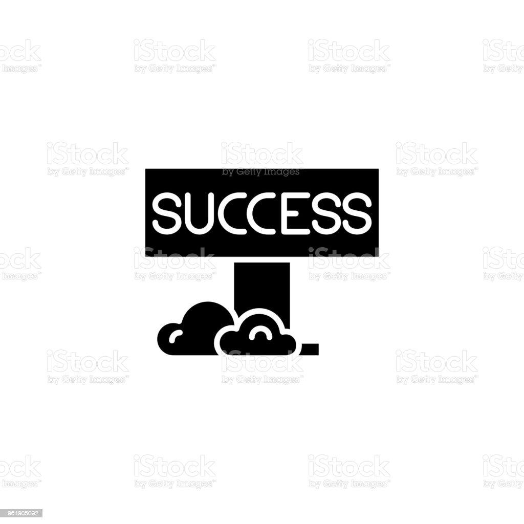 Success black icon concept. Success flat  vector symbol, sign, illustration. royalty-free success black icon concept success flat vector symbol sign illustration stock vector art & more images of achievement