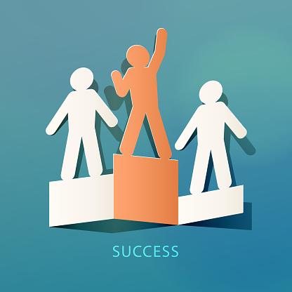 Success Concept Paper Cut