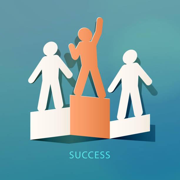 success concept paper cut - 競技運動 幅插畫檔、美工圖案、卡通及圖標