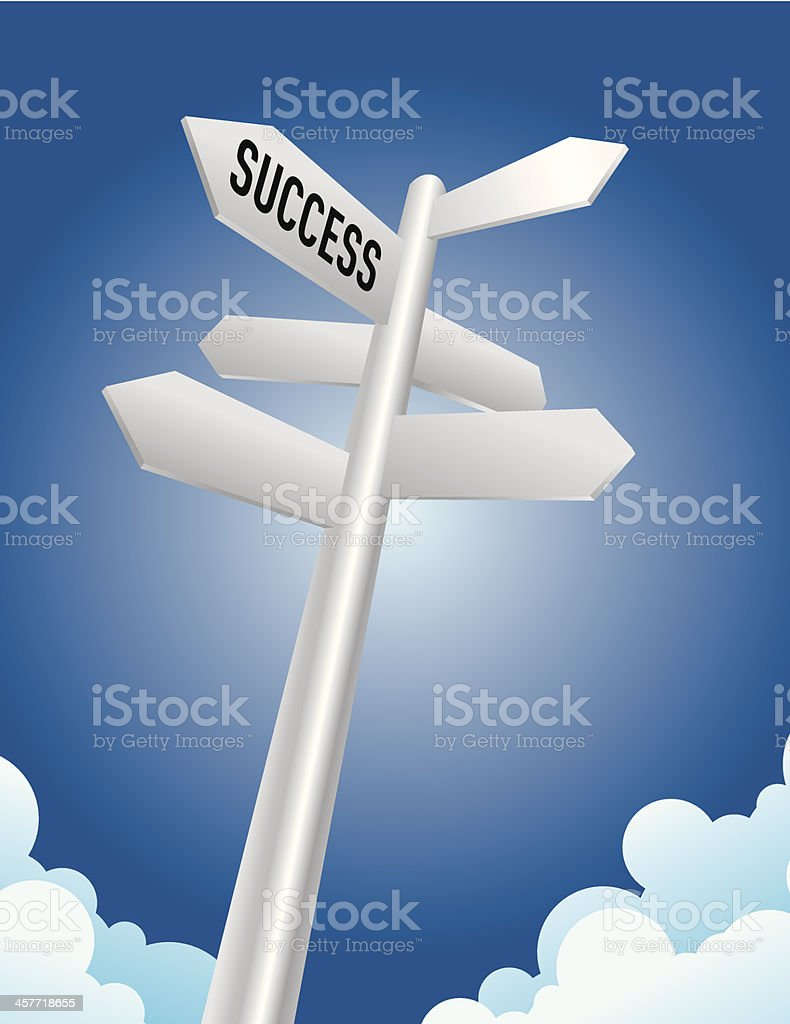 Success Direction Sign royalty-free stock vector art