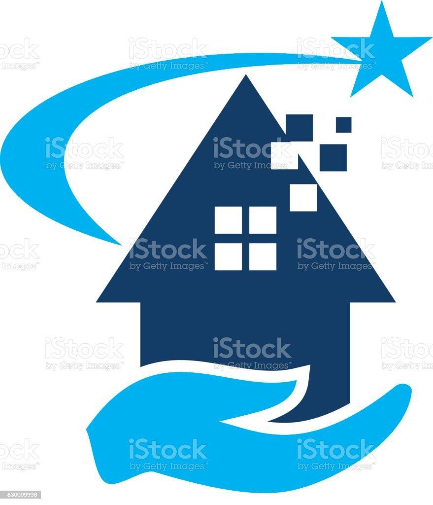 Éxito de la casa - ilustración de arte vectorial