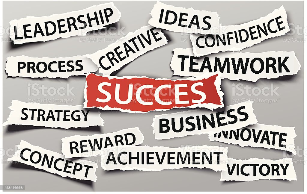Success on business concept royalty-free stock vector art