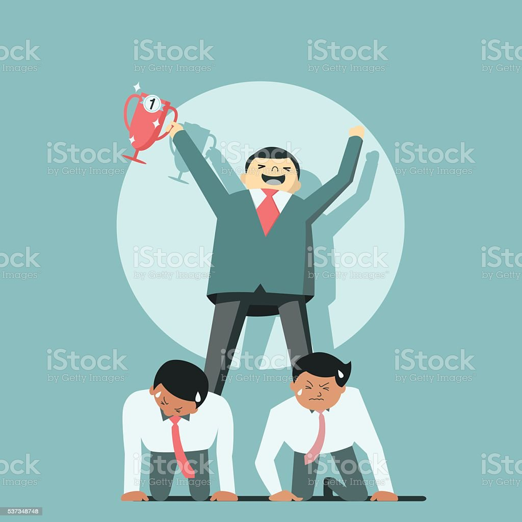 Success on other back vector art illustration