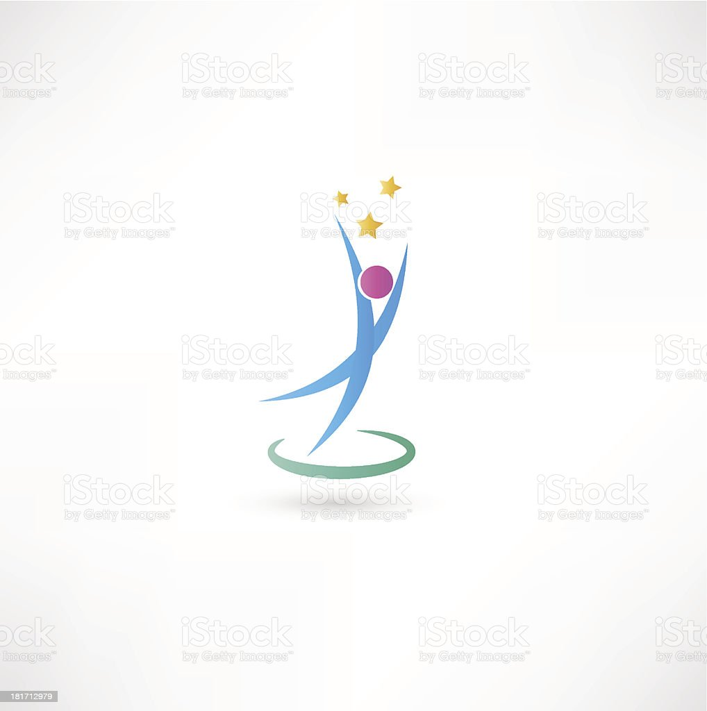 Success people icon royalty-free stock vector art