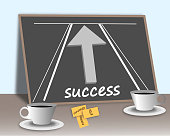 Success road.Vector