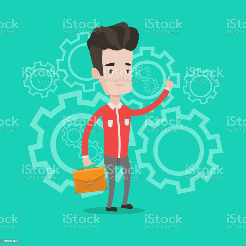 Successful business idea vector illustration. royalty-free successful business idea vector illustration stock vector art & more images of business