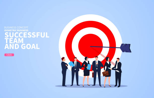 Successful business team with business goals Successful business team with business goals z_wei stock illustrations