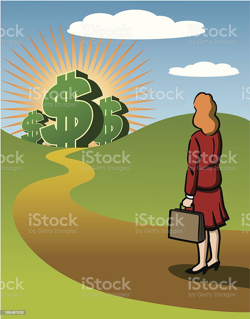 Successful Business Woman royalty-free stock vector art