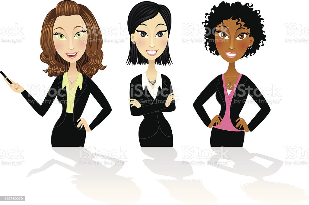 Successful business women royalty-free stock vector art