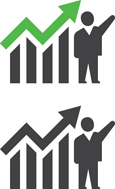成功したビジネスマン - 株式仲買人点のイラスト素材/クリップアート素材/マンガ素材/アイコン素材