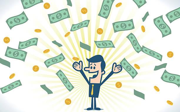 Successful businessman Successful businessman. millionnaire stock illustrations