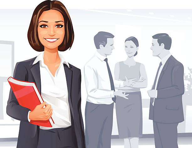 successful businesswoman - lawyer stock illustrations, clip art, cartoons, & icons
