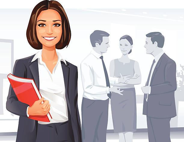 ilustrações de stock, clip art, desenhos animados e ícones de mulher de negócios bem-sucedida - portrait of confident business