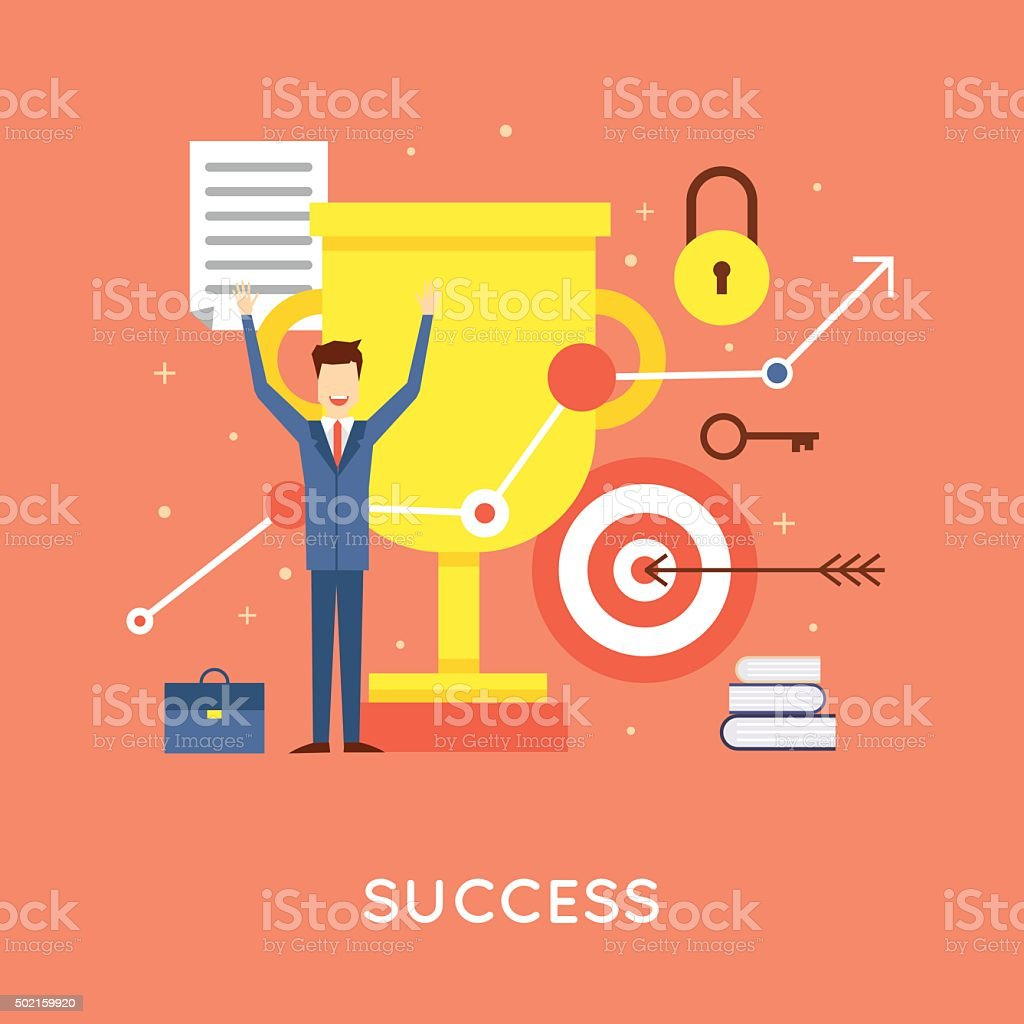 Erfolgreiche Geschäftsmann – Vektorgrafik