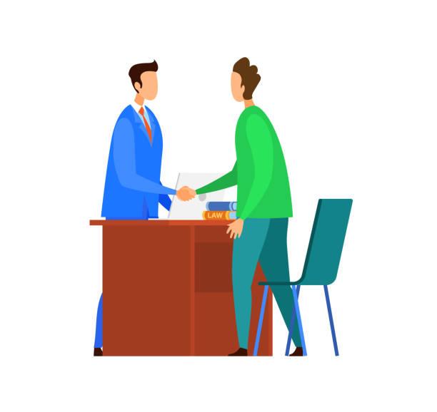 erfolgreiche verhandlungen, vertragsabsichten - rechtsassistent stock-grafiken, -clipart, -cartoons und -symbole