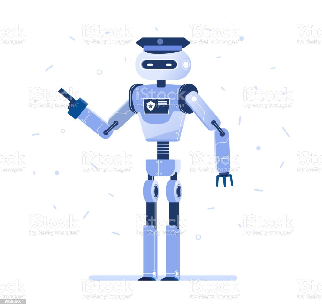 Successful robot businessman with a tie - Royalty-free Army stock vector