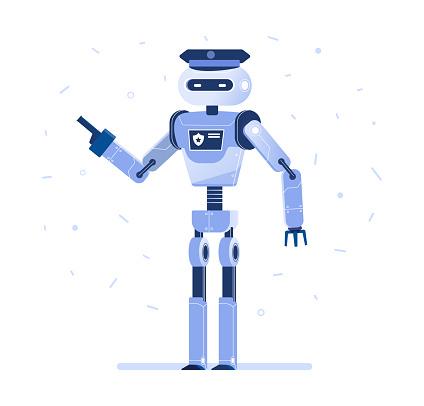 Succesvolle Robot Zakenman Met Een Gelijkspel Stockvectorkunst en meer beelden van Automatisch