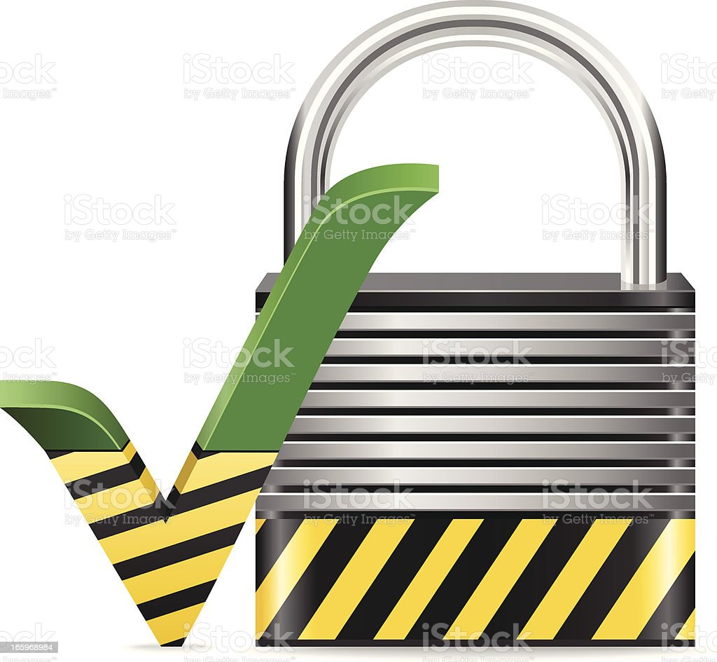 Successful Security royalty-free stock vector art