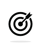 istock Successful shoot. Darts target aim icon on white background. 529250801