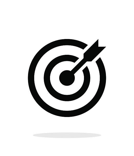 pomyślnie sesji. rzutki cel celem ikona na białym tle. - aspiracje stock illustrations