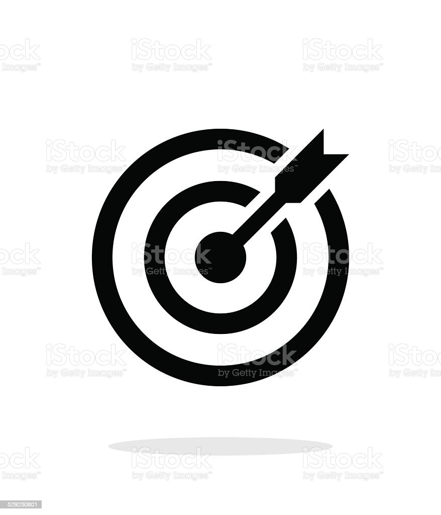 Successful shoot. Darts target aim icon on white background. vector art illustration