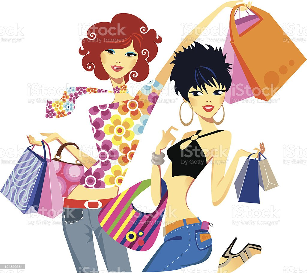 successful shopping royalty-free stock vector art