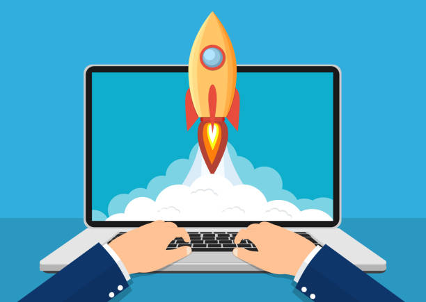 ilustrações de stock, clip art, desenhos animados e ícones de successful startup business concept. - new