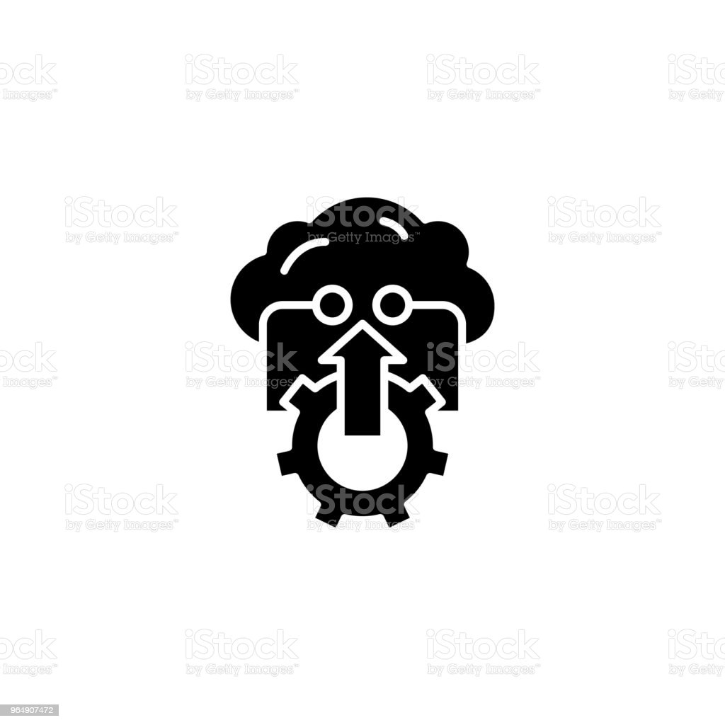 Successful strategy black icon concept. Successful strategy flat  vector symbol, sign, illustration. royalty-free successful strategy black icon concept successful strategy flat vector symbol sign illustration stock vector art & more images of awards ceremony