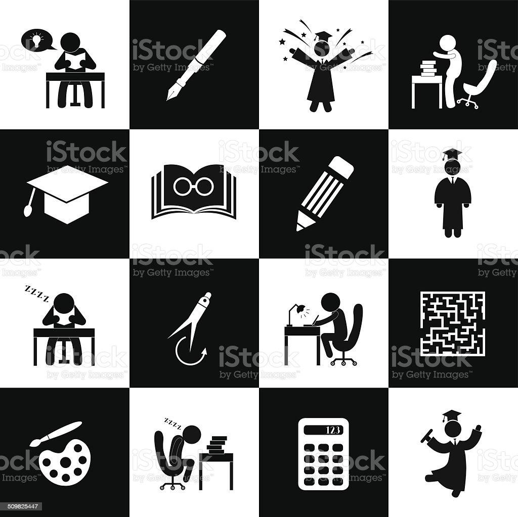 Successful study symbol vector art illustration