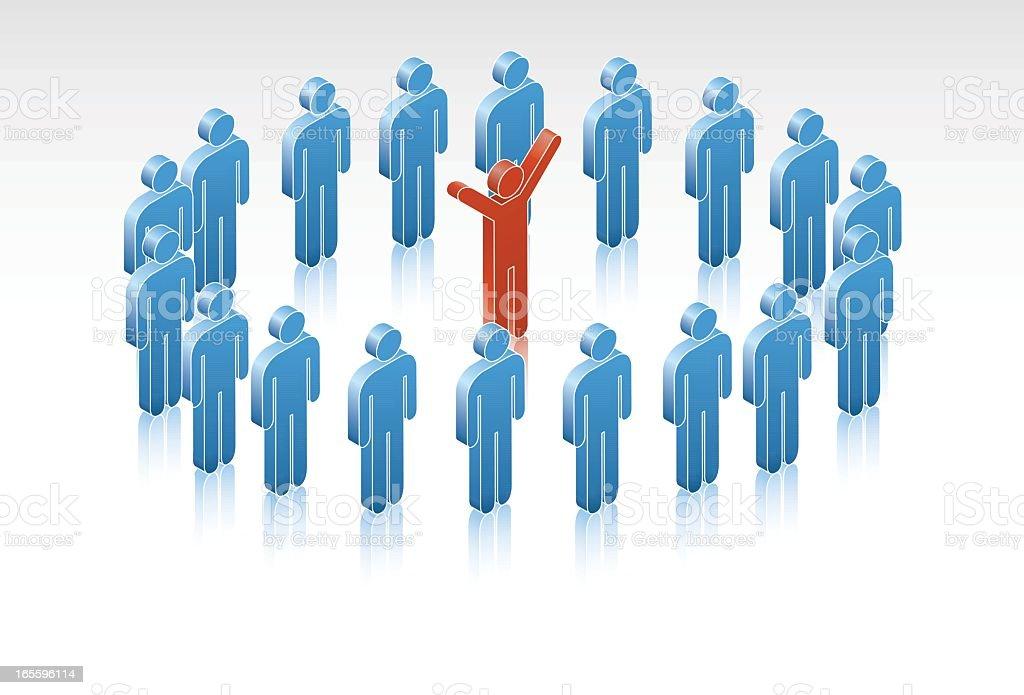 Líder del equipo de éxito ilustración de líder del equipo de éxito y más banco de imágenes de adulto libre de derechos
