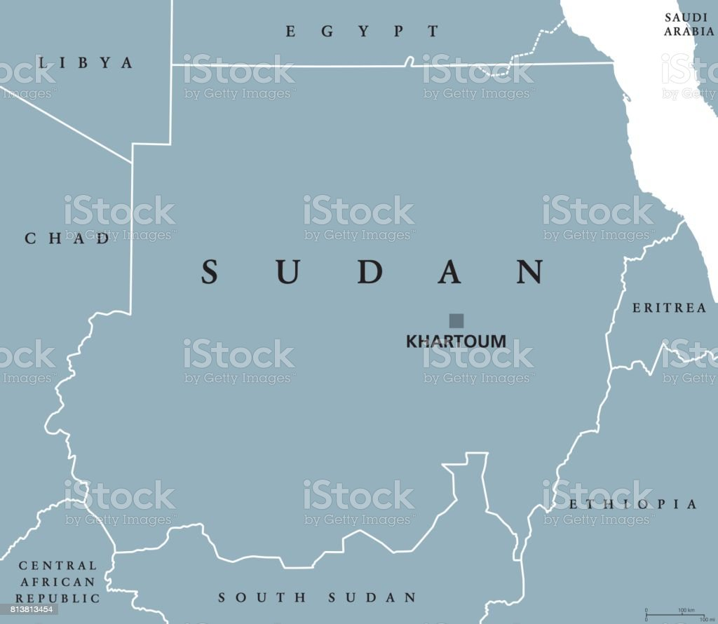 Sudan Political Map Stock Vector Art & More Images of Africa ...