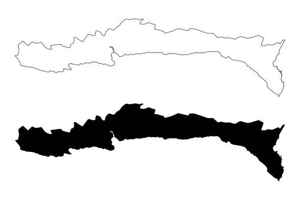 Sud-Est department (Republic of Haiti, Hayti, Hispaniola, Departments of Haiti) map vector illustration, scribble sketch Sud-Est map Sud-Est department (Republic of Haiti, Hayti, Hispaniola, Departments of Haiti) map vector illustration, scribble sketch Sud-Est map drawing of a haiti map stock illustrations