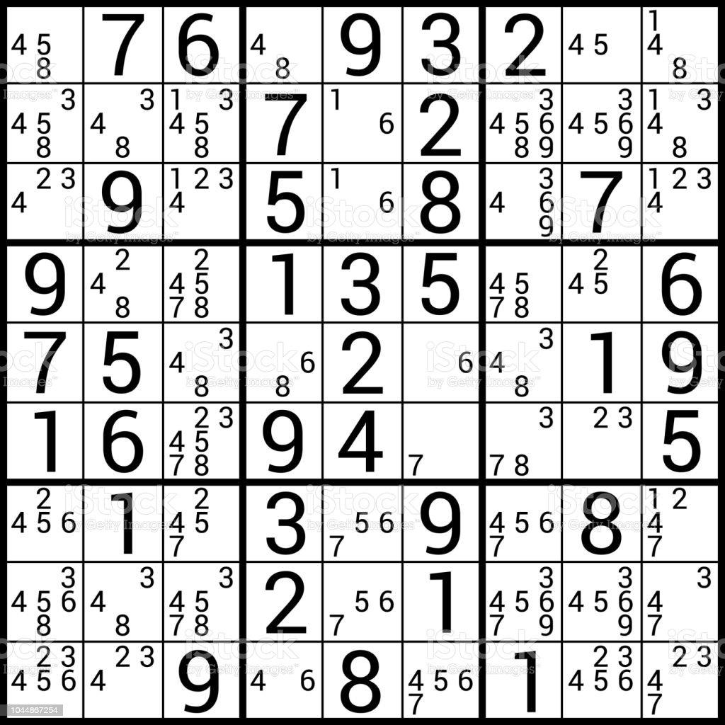 Sudoku Stock Illustration - Download Image Now - iStock