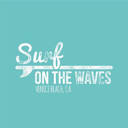 Suef On The Waves Venice Beach Retro Dirty Label