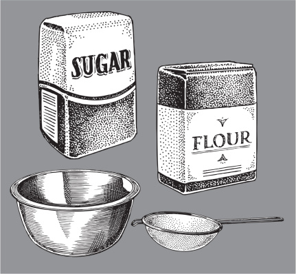 Sugar and Flour, Cooking Items - Bowl, Sifter