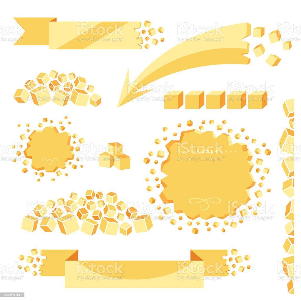 Sugar banners set. vector art illustration
