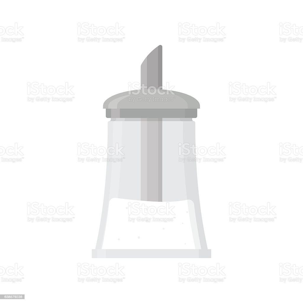Sugar bowl shaker bottle. vector art illustration