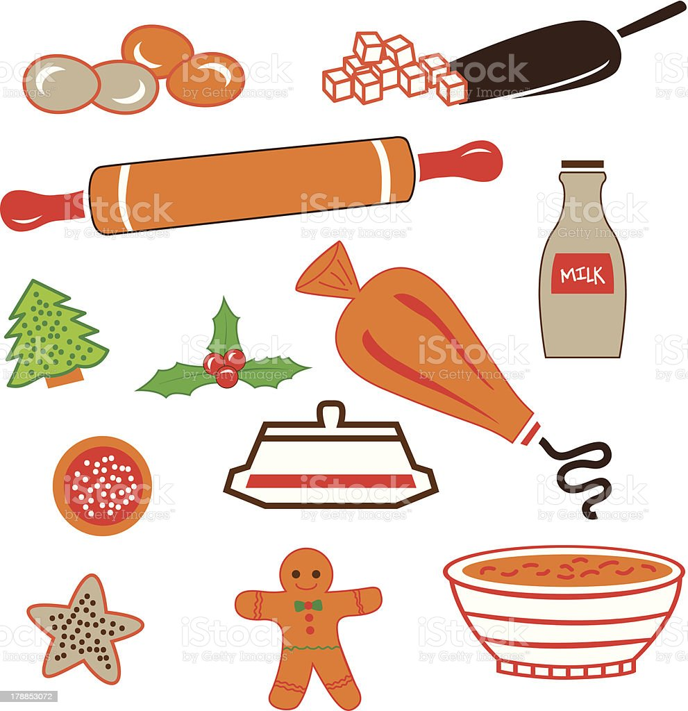 Sugar cookies with kitchen utensils royalty-free sugar cookies with kitchen utensils stock vector art & more images of backgrounds
