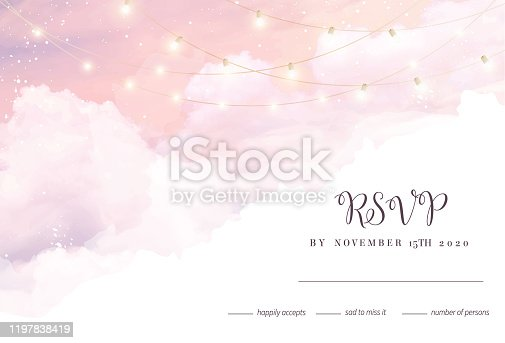 istock Sugar cotton pink clouds vector design background. 1197838419