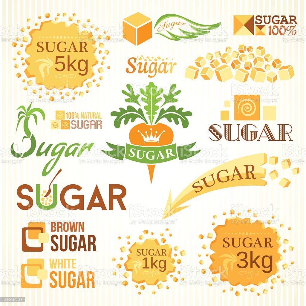 Sugar decoration set. vector art illustration